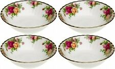 "ROYAL ALBERT OLD COUNTRY ROSES 4 x CEREAL BOWLS 16cm / 6"" - NEW/UNUSED"
