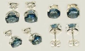 Blue Sapphire Earrings 1½ct Antique 19thC Medieval Anti-Sorcery Witchcraft Gems