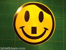 HAPPY HITLER SMILEY FACE STICKER - FUNNY CAR VAN MOTORCYCLE DUB TOOL BOX STICKER