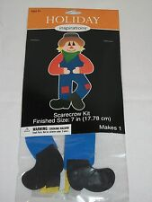"Set 2 Holiday Inspirations Craft Halloween 7"" Scarecrow Foamies Kit Foam Kid"