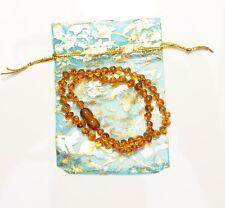 Safe Genuine Baltic amber baroque cognac baby healing necklace  TA-1821