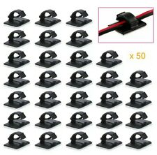 50 Car Wire Clip Self-adhesive Cable Holder Rectangle Plastic Clamp