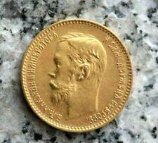5 Rubel 1900 Goldmünze Russland - Nikolaus II. 1894-1917. seltener !