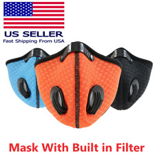 Reusable Activated Carbon Cycling Half Face Mask with PM 2.5 Filter valves