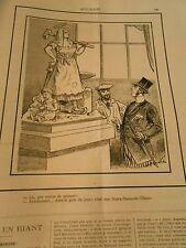 Caricature 1892 - Une Satue de Sainteté C'est une Notre Dame de l'Usine