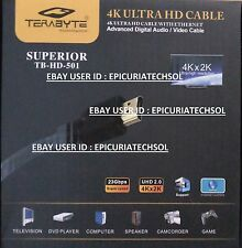 100% Original Terabyte 1.5M Gold HDMI Male to Male Cable LED LCD Full HD Copper