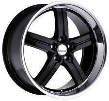 18x8/9.5 Lumarai Morro 5x120 +31 Black Rims Fits Lexus Ls460 07 08 09 10