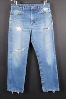 Vintage WRANGLER 13MWZ Distressed Denim Jeans Mens Size 35x30