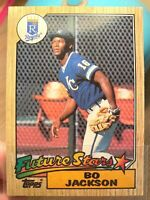 1987 Bo Jackson Future Stars Rookie #170 for the Royals Topps ~ Old Vintage
