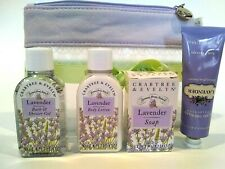 Crabtree Evelyn Lavender Shower Gel Lotion Soap Hand Therapy Travel Kit