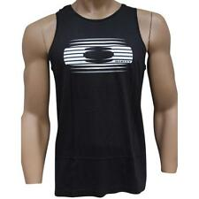 Oakley FULL TIME Tank Size M Medium Black Mens Sleeveless Slim Fit Singlet
