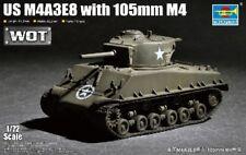 1:72 US M4A3E8 TANK w 105 mm M4 TRUMPETER MODEL KIT 7168