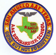 US ARMY AIR FIELD PATCH, SAN ANGELO AAF TEXAS, BOMBARDIER SCHOOL,  GBNF