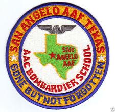 US ARMY AIR FIELD PATCH, SAN ANGELO AAF TEXAS, BOMBARDIER SCHOOL,  GBNF