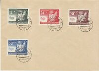 Cover Germany Poland GG Mi 59-62 WWII 1941 Third Reich Warsaw Winter Life CTO