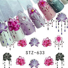 5 Sheets 3D Nail Art Transfer Sticker Flower Decals Manicure Decoration Tips DIY