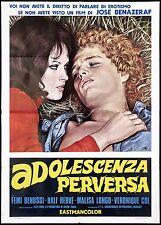 ADOLESCENZA PERVERSA MANIFESTO CINEMA EROTICO FEMI BENUSSI 1974 MOVIE POSTER 2F