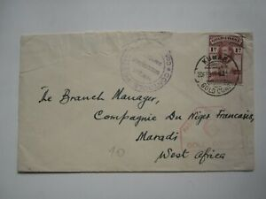 1940 CENSORED GOLD COAST COVER to WEST AFRICA