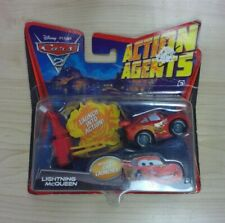 Disney Cars 2 Action Agents Lightning McQueen Toy Brand New!