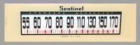 Sentinel 284NI Catalin Radio Dial Glass Reproduction