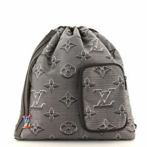 Louis Vuitton Drawstring Backpack Limited Edition 2054 Monogram Textile