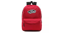 VANS REALM BACKPACK - UNISEX FASHION BAG CASUAL RUCKSACK, RED [VN0A3UI6SQ2]