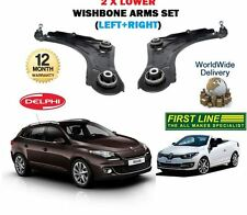 FOR RENAULT MEGANE + CABRIO 2008--> LH+ RH 2x LOWER WISHBONE SUSPENSION ARMS