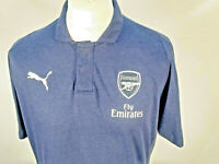 Mens Arsenal Football Club Puma Casual Performance Dry Cell Blue Polo Shirt XL