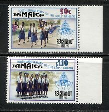 GIRL GUIDES, SCOUTS, GIRL'S BRIGADE CENTENARY ON JAMAICA 1993 Scott 786-787, MNH
