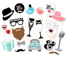 New 21pcs Party Masks Photo Booth Props Mustache On A Stick Wedding Party Favor
