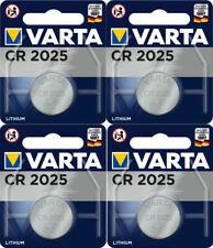 4 x Varta CR 2025 3V Batterie Lithium Knopfzelle 6025 DL2025 im Blister 157mAh