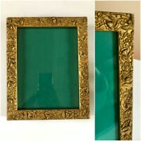 "Antique Victorian Gold Wood Gesso Frame Ornate 8"" x 10"" for 8"" x 6"" Photo"