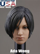 IN STOCK 1/6 Resident Evil Ada Wong Head Sculpt For Hot Toys Phicen USA SELLER
