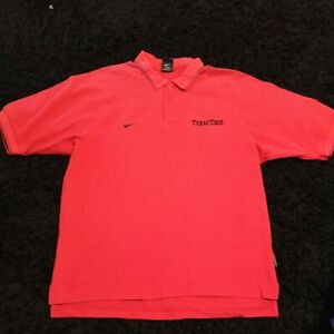 Nike Texas Tech Polo Shirt Men's Size L Large Short Sleeve Red