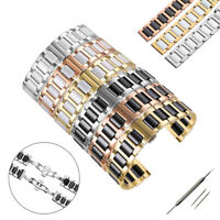 Ceramics Stainless Steel Links Metal Bracelet Replacement Watch Band Strap