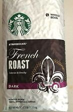 2.5 LB STARBUCKS French Roast DARK Whole Bean Coffee, FreeShipping
