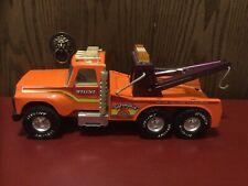 """Vintage Nylint """"Big Pumpkin"""" Orange Tow Truck Wrecker In Good Cond. 1970's 16""""."""