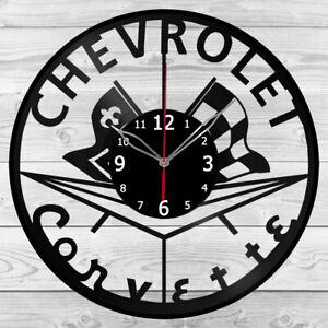 Vinyl Clock Chevrolet Corvette Record Wall Clock Home Art Decor Handmade 5226
