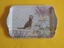 Ambiente 1x Tablett KITTEN Katzen Blumen Melamin 13 x 21 trays Veilchen Kätzchen