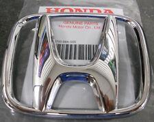 NEW OEM Honda Accord 03-07 CRV 05-09 4Dr Sedan Front Grille H Emblem Chrome