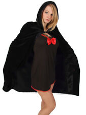 VELVET HOODED CLOAK WITH BLACK LINING WITCH HALLOWEEN
