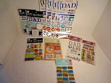 Huge Lot Scrapbooking Stickers Dad Father 12 Sheets Jolee K&Co Sticko Mambi NIP