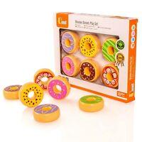 Viga Set of 6 Wooden Donuts - Brand New - 51604