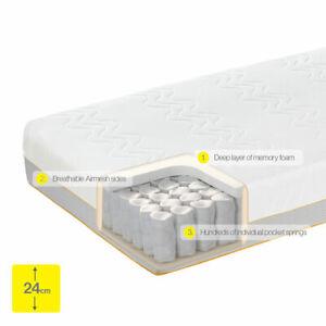 Dormeo Mattress Options Memory Foam Spring Hybrid Single Double King Super Size