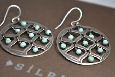 Silpada Howlite Sterling Silver Bead Round Cutout Blue W1682 Earrings
