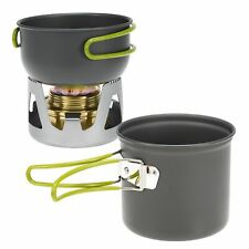 Mini Alcohol Stove Cooking Pot BBQs Outdoor Camping Hiking Backpacking Fishing