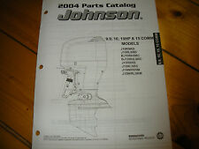JOHNSON outboard 9.9, 10, 15, 15 COMM,  2004 parts catalog