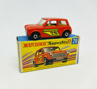 MATCHBOX SUPERFAST - Racing mini #29 Lesney Made in England 1970 Vintage