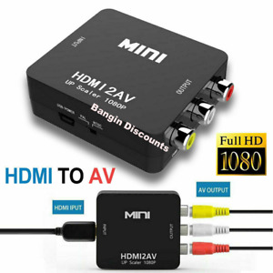HDMI To RCA AV Adapter Converter Cable CVBS 3RCA 1080P Composite Video Audio