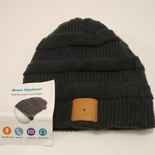 Rotibox Bluetooth Rechargeable Music Beanie Double Knit Skully Cap Wireless